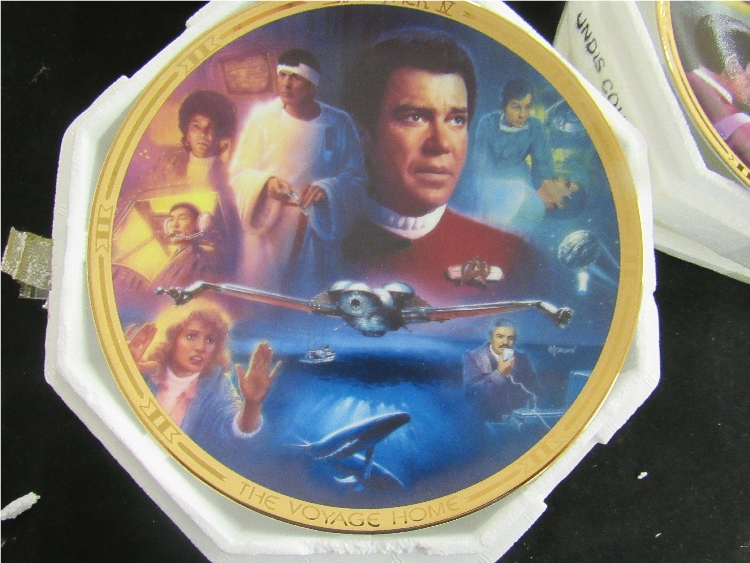 Three Star Trek The Movies Collection Plates , EC