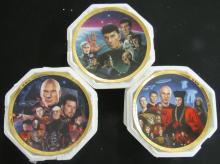 Three Star Trek The Next Generation The Episodes Plates, EC
