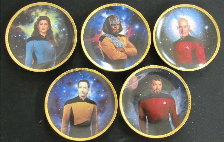 Five Star Trek The Next Generation Plates, EC