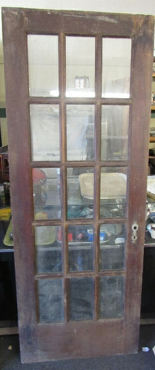 Antique 15 Pane Door, 30