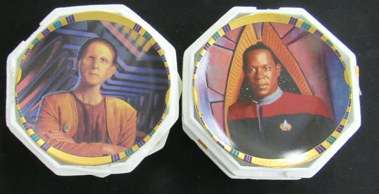 Two  Star Trek Deep Space Nine Plates, EC