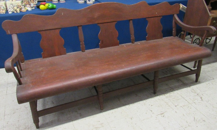RARE Late 1700's, Early 1800's Pennsylvania Dutch Shaker Bench, Hand Made, 85