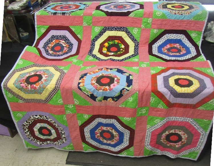 1950's Hand Sewn and Machine Quilt, Never been seen till now, 59