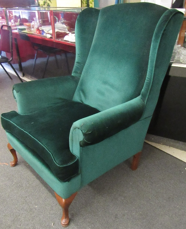 Wing Back Chair, All Responsibility for Shipping will be the Successful Bidder. You must arrange for pickup directly or by a shipper within 7 days after sale