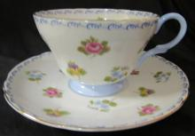 Vintage Shelly England Fine Bone China Primrose Cup And Saucer English Floral, EC