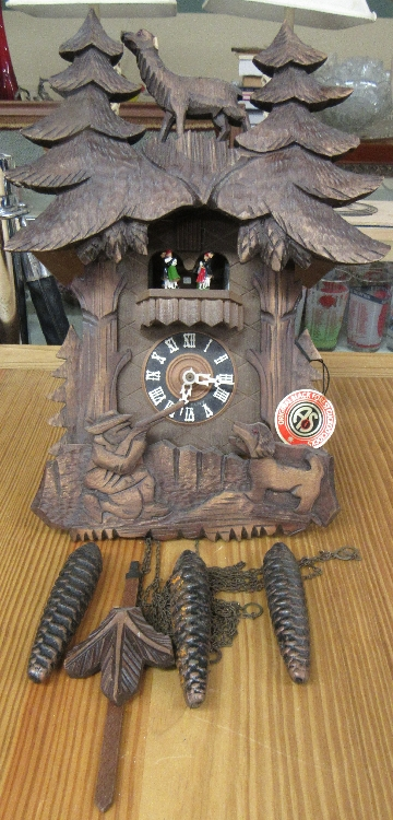 Schneider Black Forest Hunter Cuckoo Wall Clock, 16