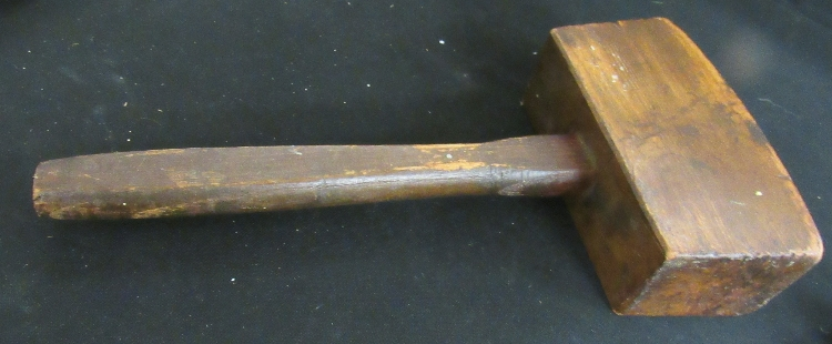 Antique Primitive Wooden Mallet, 13