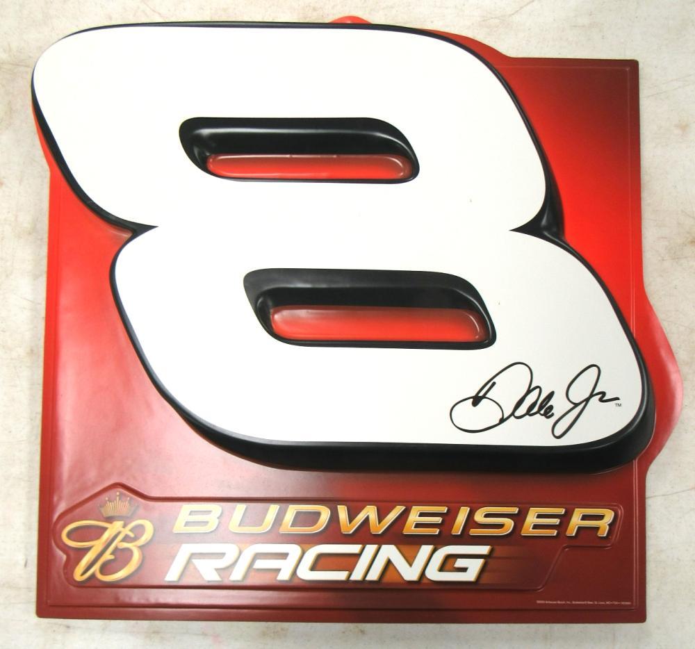 Dale earnhardt jr 8 budweiser racing 2 sided 3 d bar sign beer nascar