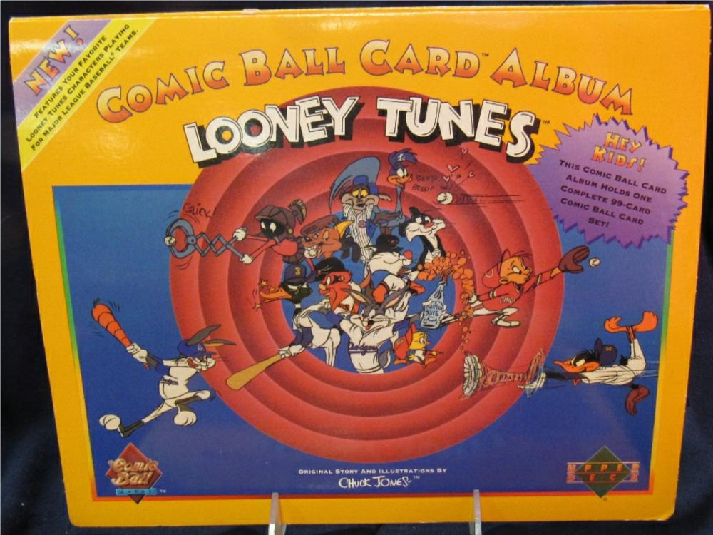 Upper Deck Looney Tunes Comic Ball Card Yellow Album Complet