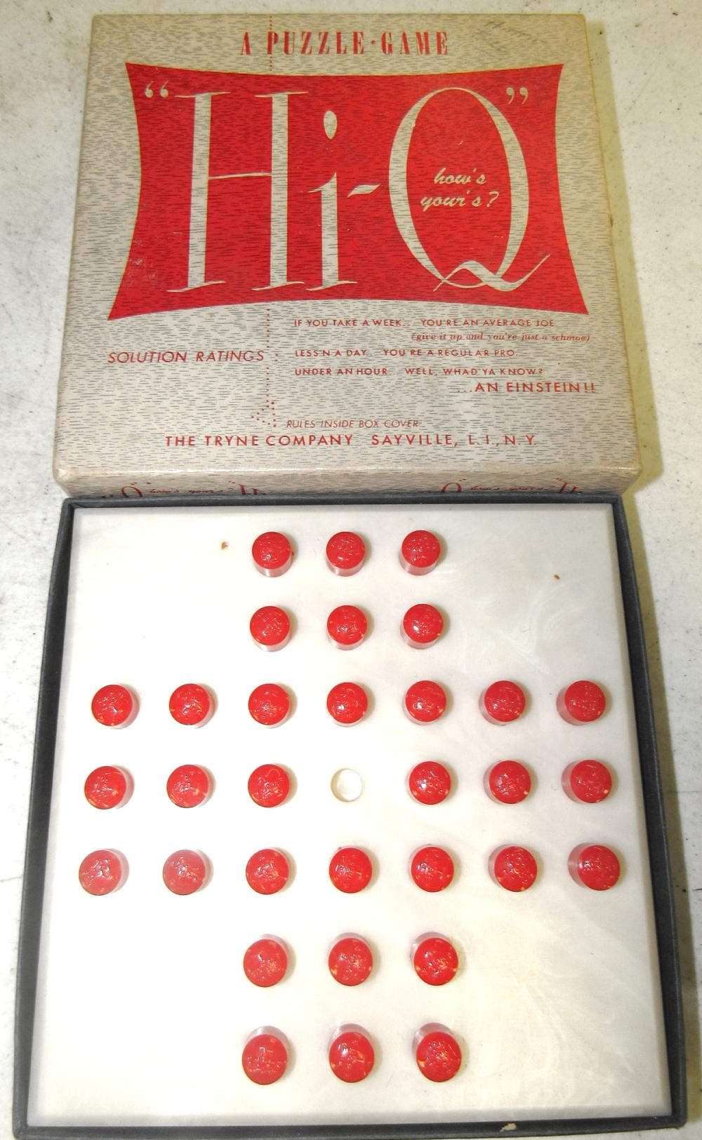 Vintage Hi Q Game Puzzle Skill Tryne Sales Inc Made In Usa