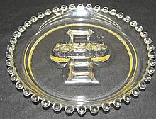 Ashtray With Match Book Center in the Candlewick-Clear (stem #3400) pattern by Imperial Glass, 6
