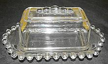 California Covered Butter W/beads On Top Of Lid in the Candlewick-Clear (stem #3400) pattern by