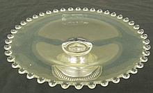 Sterling Silver Peg Nappie in the Candlewick-Clear (stem #3400) pattern by Imperial Glass, 7