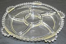 5-Part Relish Dish in the Candlewick-Clear (stem #3400) pattern by Imperial Glass, 11