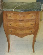 French Marble Top Console Table, 23 x 13 x 29 1/2