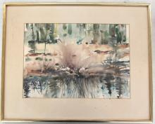 Amazing Watercolor by Patterson Framed 21 x 16 3/4