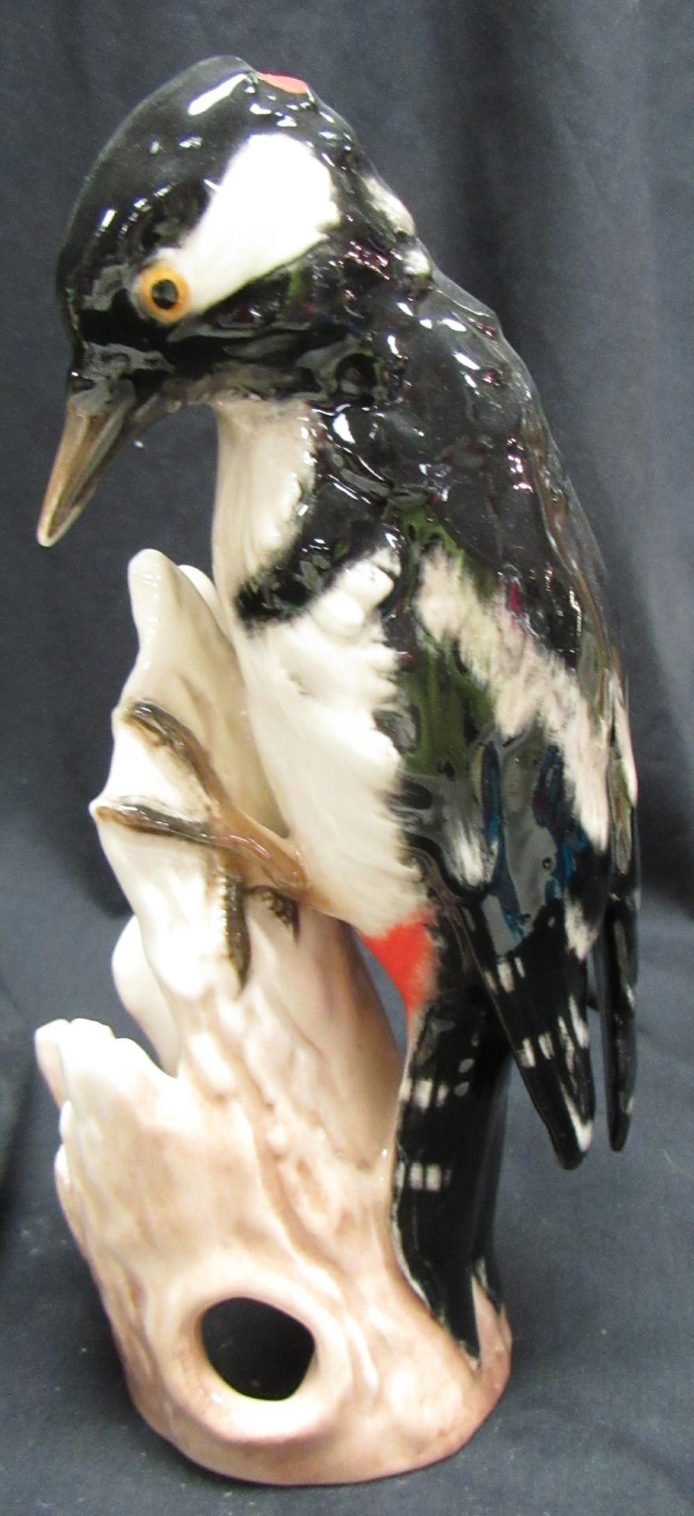 """Goebel Hummel Great Spotted Woodpecker Figurine Germany 6 1/2""""h, EC"""