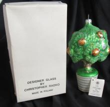 Vintage 90s Christopher Radko Ornament 12 Days Of Christmas Partridge Pear Tree, MIB