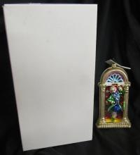 Christopher Radko #10 Downing Street Christmas Ornament Box Tag, MIB