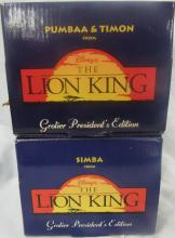 Two Grolier President's Edition Disney The Lion King Ornaments, MIB