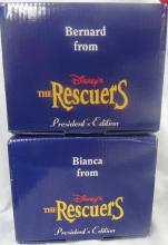 Two Grolier President's Edition Disney The Rescuers Ornaments, MIB