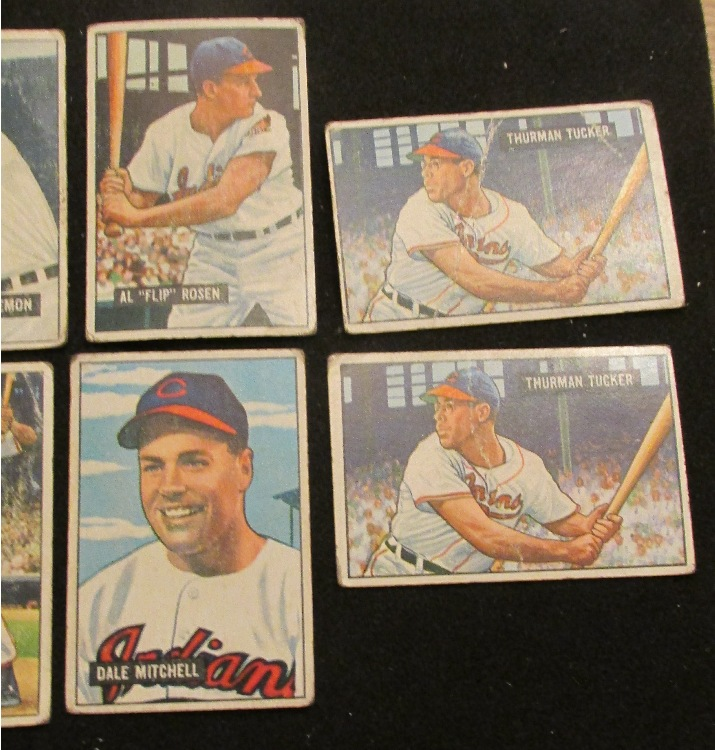 Lot 3103 Ten 1951 Cleveland Indians Baseball Cards G VG