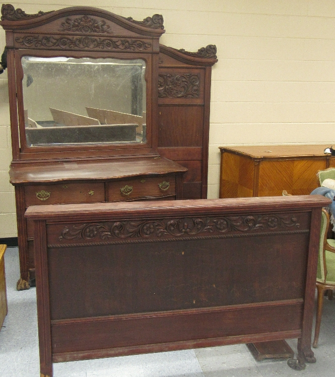 1800 39 s victorian carved bedroom set bed and matching dress Home furniture victoria street