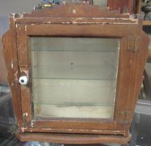 Antique Art deco design wooden medicine/apothecary store display cabinet, 15