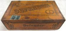 Antique Defender Cigar Box, 8 1/2