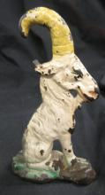 Antique Cast Iron Billy Goat Bottle Opener original old paint, 2 1/2