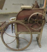 Antique Primitive Standing Corn Sheller husker with Double Wheel On for Hand Power and the Other for steam power, EC, All Responsibility for Shipping will be the Successful Bidder. You must arrange for pickup directly or by a shipper within 7 days after sale.