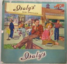 Vintage Isaly's 1948 Foldout Calendar, 7 1/2
