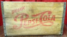 Antique wooden crate pepsi, 18