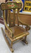 Tole Painted Child's Rocking Chair, All Responsibility for Shipping will be the Successful Bidder. You must arrange for pickup directly or by a shipper within 7 days after sale