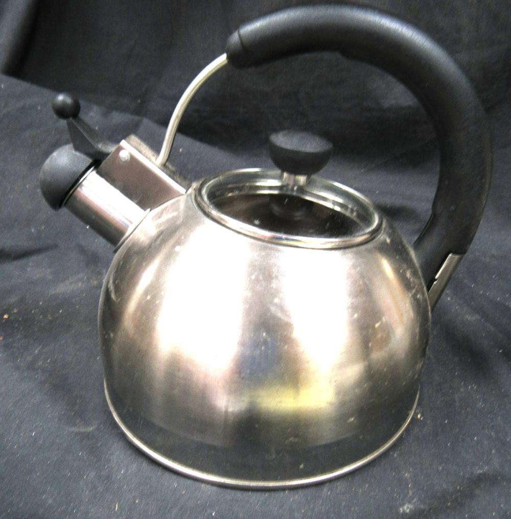 Sold Price Oggi Stainless Steel Whistling Kettle 1 9lt 64 Oz Gas Or Electric Stoves Ec May 3 0120 6 00 Pm Edt