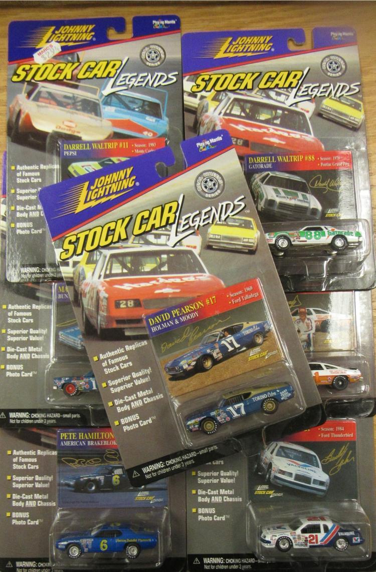 Seven Johnny Lightning Stock Car Legends, Mint Condition