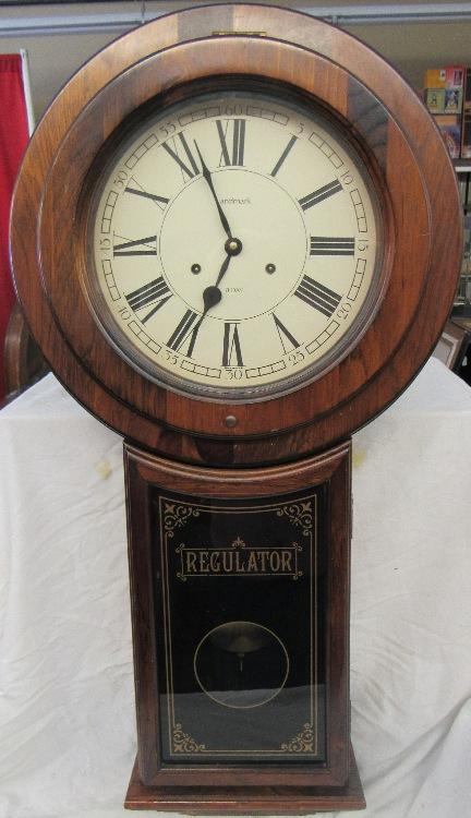 Landmark Westminster Chime School House Regulator Wall Clock