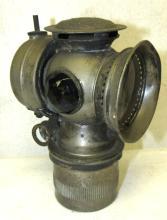 Vintage Antique C.M. Hall Lamp 1899 Carbide Bicycle Light, Model S Solar, 5
