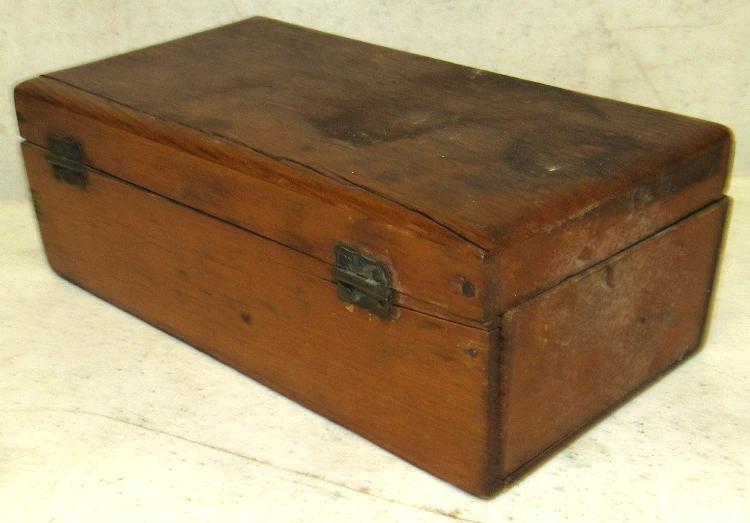 Antique Charles Higgins Toilet Soap Wooden Box 7 X 3 1 2