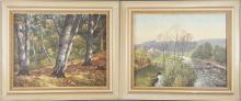 Rudolf Conrad Erich ALLWARDT (1902 - 1983). Zwei Landschaften.