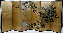 19th Century Japanese gold leaf screen