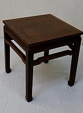 20th Century hardwood square stool