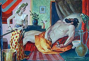 JOSEPH E. BOLDEN (Amer. 1902-1979) Gouache on