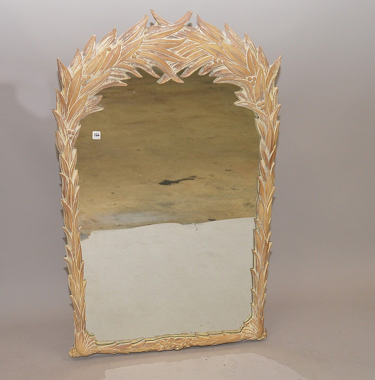 Carved foliate form mirror 50 x 30 for Mirror 50 x 30