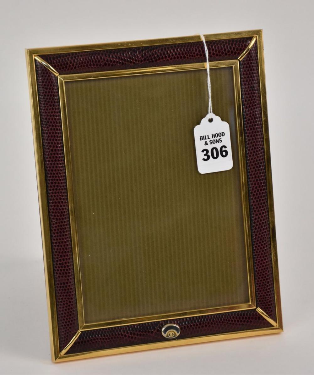 Vintage GUCCI Lizard Leather Photo Frame -