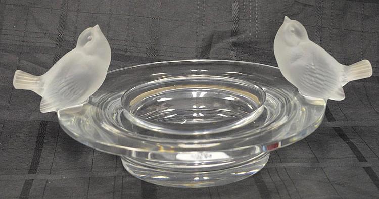 Lalique centerpiece bird bath bowl, 6