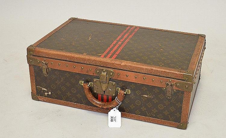 Vintage Louis Vuitton hard sided suitcase, 16