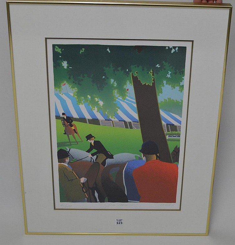 Signed Lemieu , Lithograph, 41/200, 16 x 22-1/2 sight size