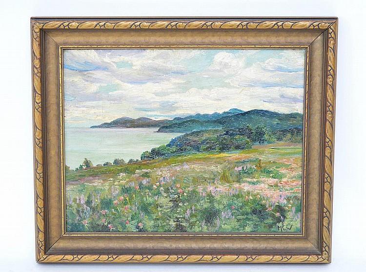 "MAURICE CANNING WILKS, Irish 1910-1984, ""An Irish Coastal Scene"", oil on board 10 ½"" x 13 ¼"", signed lower right, framed"