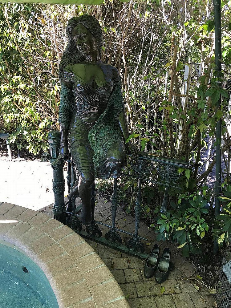Manuel Vidal bronze Lifesize sculpture, GIRL ON THE FENCE, 66 tall x 44 wide